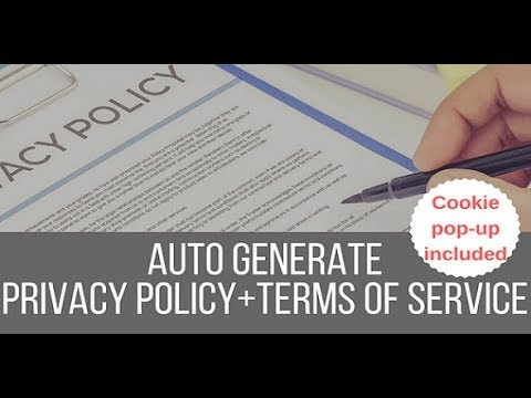Legalize! Privacy Policy and Terms of Service Generator WordPress Plugin