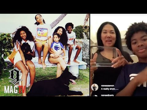 Kimora Lee Simmons On Mommy Duties Baking With The Kids!