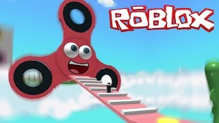 ESCAPES FROM THE SPINNER FIDGET IN ROBLOX!