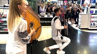Download Bandura and Button Accordion Street Performance at AIRPORT! Mp3 and Videos
