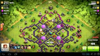 dark elixir farming with balloons and minions (over 2000 in this raid) | clash of clans