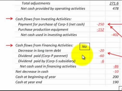 Consolidated Cash Flow Statement (Disclosure Of Purchase Acquisition Of  Subsidiary)
