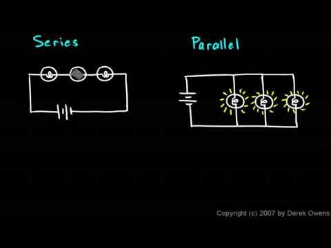 Physical Science 6.5a - Series and Parallel Circuits - YouTube on series parallel speaker wiring calculator, batteries in parallel diagram, series circuit diagram, series and parallel electrical wiring, series vs. parallel subwoofer diagram, parallel circuit diagram,