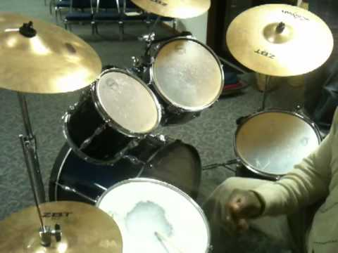 Pastor Gregory Brown Playing drums Pentecostal Style