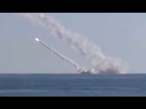 FIRST VIDEO: Russian submarine targets ISIS in Syria from Mediterranean