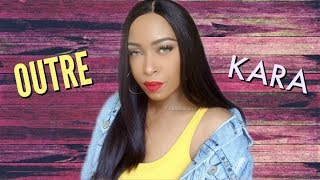 Outre Kara Full Lace Wig is a bone straight wig with a breathable c...