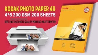 Kodak Photo Paper 4R 200 GSM 200 Sheets (Quick Review and Print Sample)