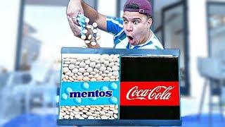 Experiment: Coca Cola and Mentos **CRAZY**