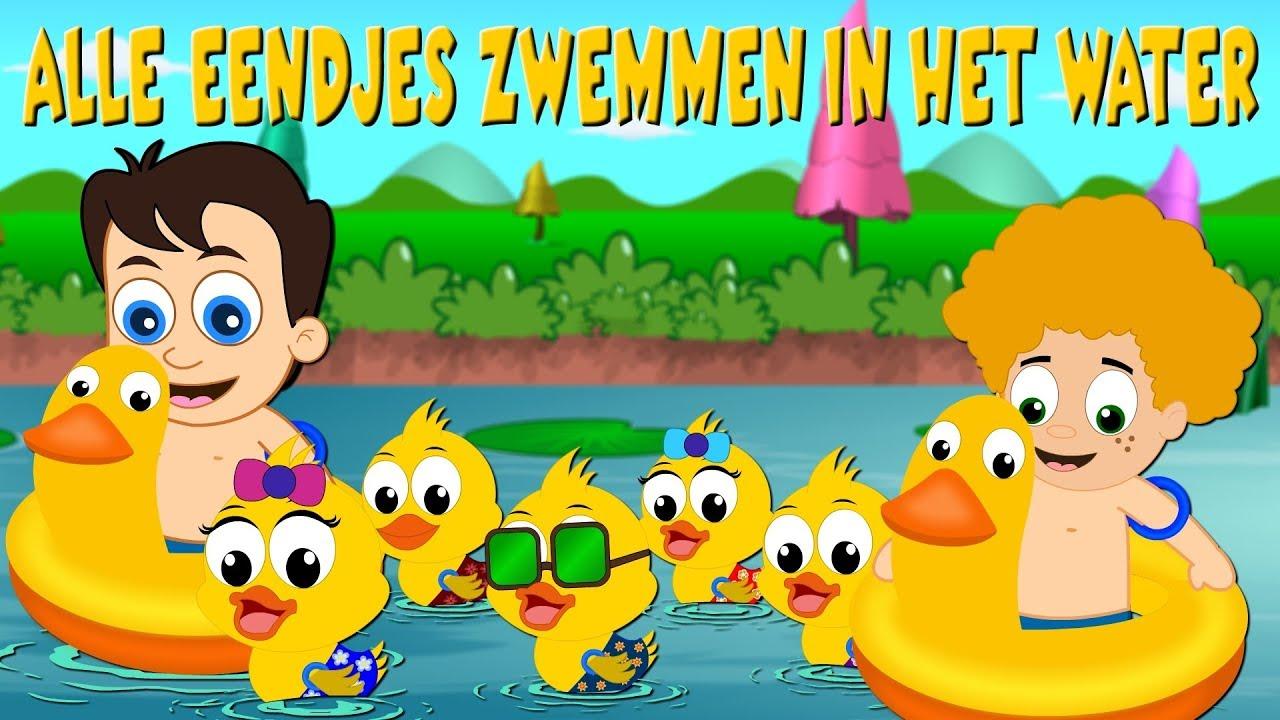 alle eendjes zwemmen in het water kinderliedjes