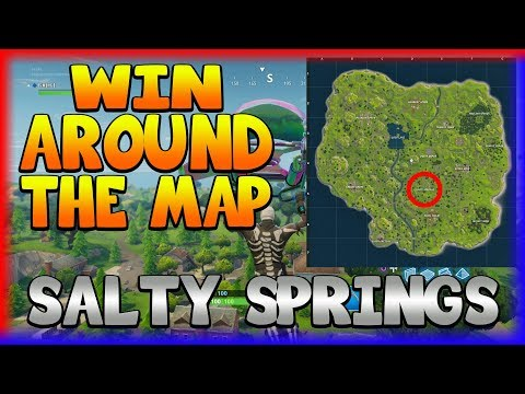 *NEW UPDATE* & WIN AROUND THE MAP 'SALTY SPRINGS' (Fortnite Battle Royale)