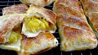 АХ! ПИРОЖКИ! Пирожок с ананасами из быстрого слоеного теста BÁNH NGÀN LỚP #LudaEasyCook