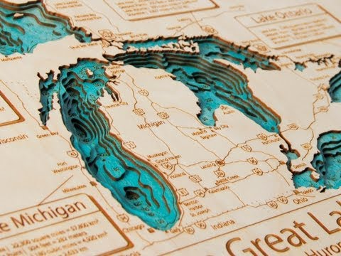 Lake Art - 3D Wooden Maps
