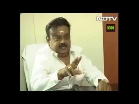 Vijayakanth speaks English