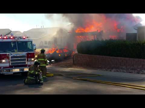 Hurricane Utah home up in flames