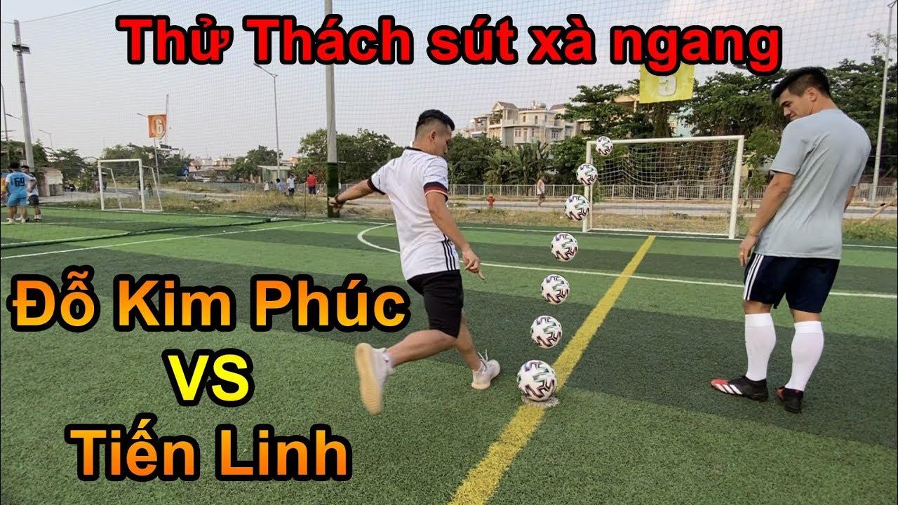 Thử Thách Bóng Đá Đỗ Kim Phúc VS Tiến Linh U23 Việt Nam thi sút xà ngang mùa tết 2020