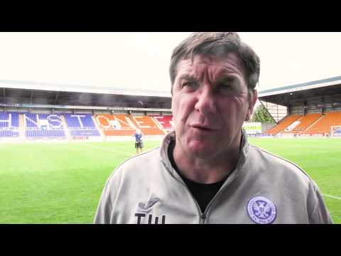 Post match v Sunderland - Tommy Wright 17/7/17