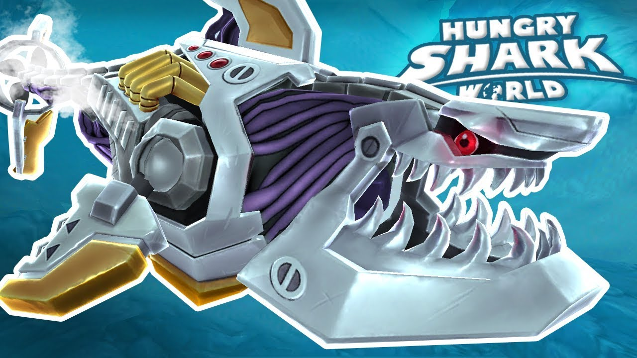 ROBOT SHARK!!! – Hungry Shark World | Ep 63 HD