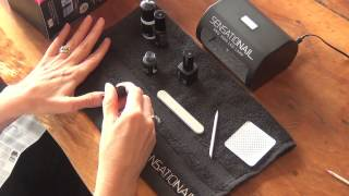Sensationail gel nail kit application demonstration Thumbnail