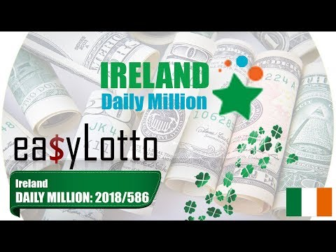 Ireland DAILY MILLION lotto results 20 Oct 2018   586