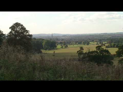 GRANTHAM from BELTON TOWER. Video Postcard 49.