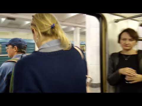 Москва 368 проезд на поезде по Нагатинскому метромосту, станция метро Коломенская лето вечер