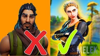 ALL SKINS OF SCHLECHT AFTER GOOD ORDER- WHAT ARE THE BEST??? FORTNITE BATTLE ROYALE ENGLISH