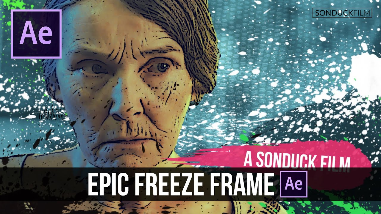 After Effects Tutorial: Epic Freeze Frame Animation - YouTube