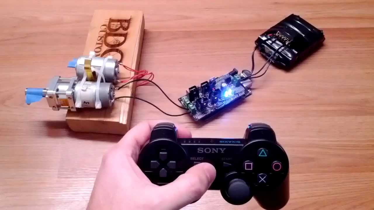 Ps controller controlling dc motor using arduino adk and