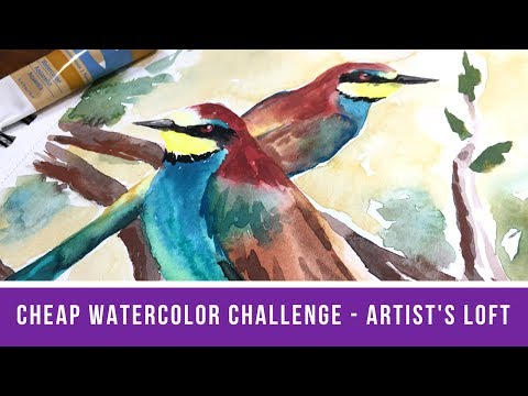 Cheap Watercolor Challenge: Artist's Loft Edition + 5k Subscriber Giveaway!