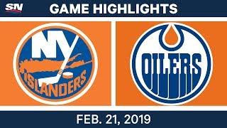 NHL Highlights | Islanders vs. Oilers - Feb 21, 2019