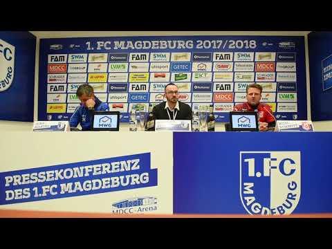 Pressekonferenz 1. FC Magdeburg gegen Hallescher FC 2:1 (2:0)