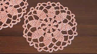 Сrochet doily  Flower pattern Part 2