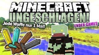 JEDE WAFFE NUR 1 MAL! - Minecraft UNGESCHLAGEN #28 - Ender Games | ungespielt