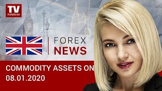 InstaForex tv news: 08.01.2020: Oil again on winning streak, though far from recent highs (Brent, USD/RUB)