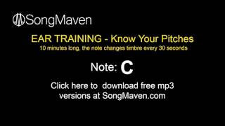"Perfect Pitch Training Tones, 10 Minutes Long - Note=""C"""
