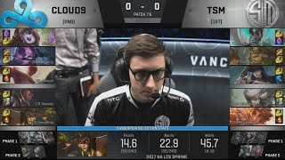 C9 (Ray Kennen) VS TSM (Hauntzer Camille) Game 1 Highlights - 2017 NA LCS Spring Final