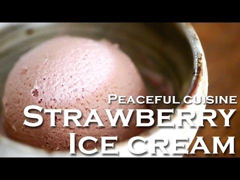 4 ingredients Strawberry Ice cream (vegan) ☆ イチゴのアイスクリーム