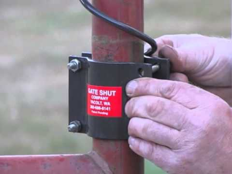 How To Install The Gate Shut Spring Gate Closer On A Ranch