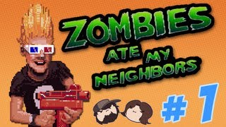 Zombies Ate My Neighbors - An Underrated Gem - PART 1 - Game Grumps