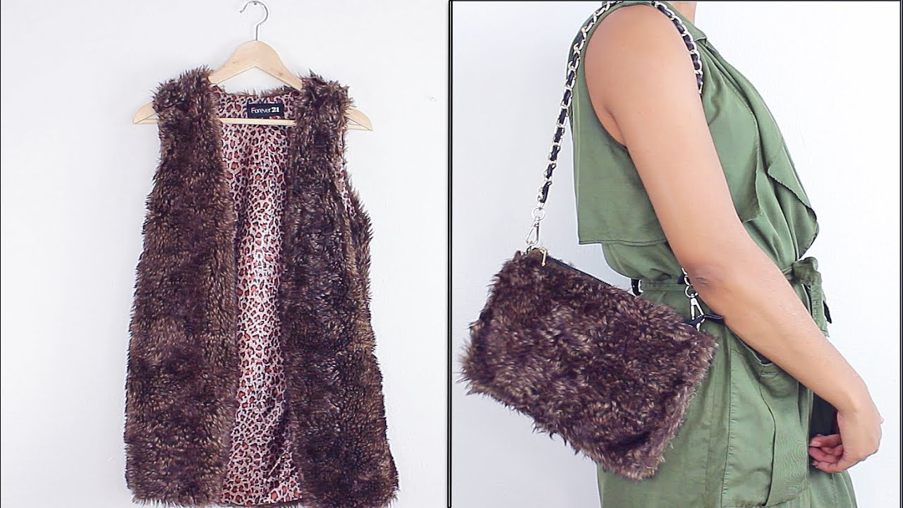 61f6c0ce7c84 HOW TO  DIY Faux Fur Handbag - YouTube