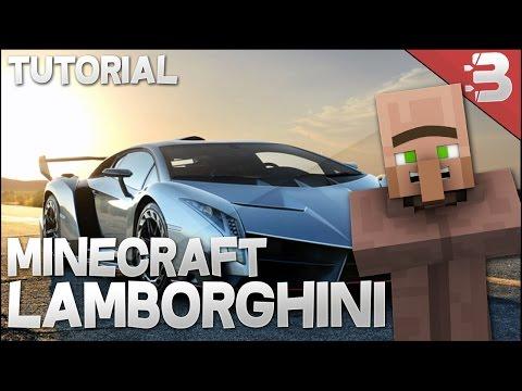 how to make lamborghini in minecraft