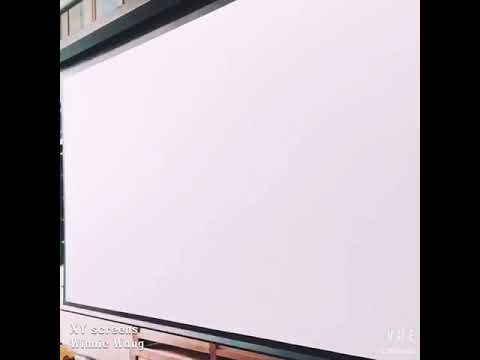 xy screens large lc2 wf1pro 4k motorized tensioned projection screen