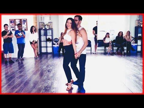 Mau y Ricky, Karol G - Mi Mala (Remix) ft. Becky G, Leslie Grace, Lali | Zouk Dance | Eddie & Sarah