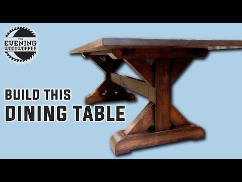 Massive Farmhouse Trestle Table Build | Farmhouse Designs