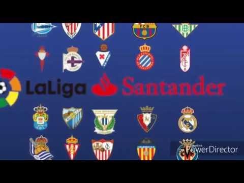 Los escudos de la liga santander