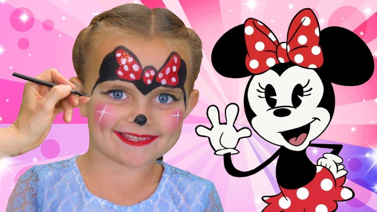 Minnie Mouse Face Paint | We Love Face Paint - YouTube