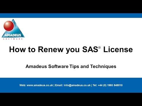 SAS Tip: How to Renew your SAS License