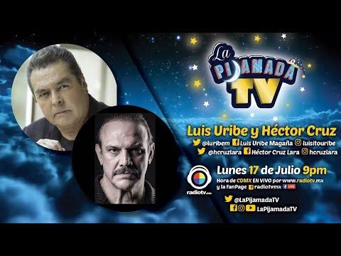 Luis Uribe y Hector Cruz en La Pijamada TV