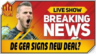 DE GEA SIGNS NEW DEAL! SOLSKJAER'S STRUGGLES! Man Utd News Now