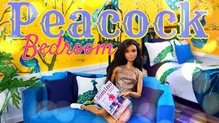 DIY - How to Make: Peacock Bedroom | Anna's Custom Bedroom | Painted Wallpaper